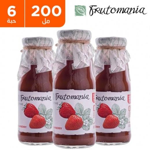 فروتومانيا - عصير الفراولة خالي من السكر المضاف 6 × 200 مل