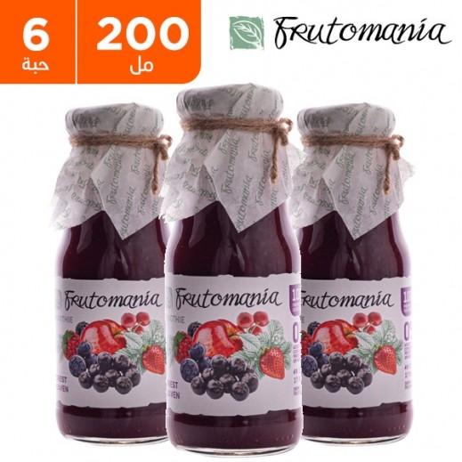 فروتومانيا - عصير نعيم الغابة خالي من السكر المضاف 6 × 200 مل