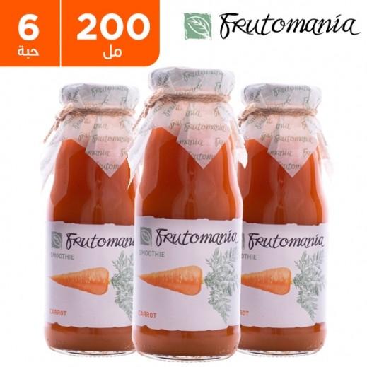 فروتومانيا - عصير جزر خالي من السكر المضاف 6 × 200 مل