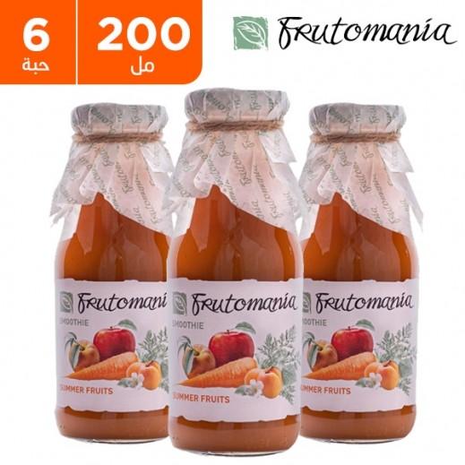فروتومانيا - عصير فاكهة الصيف خالي من السكر المضاف 6 × 200 مل