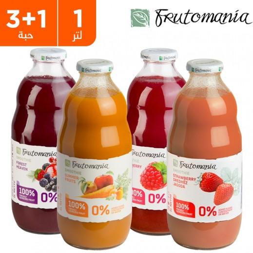فروتومانيا تشكيلة المشروبات الصيفية المتنوعة 1 لتر (3 + 1 مجانًا مجانًا) - يتم التوصيل بواسطة مجموعة كارو خلال 72 ساعة عمل