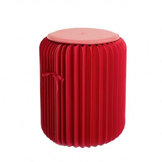وابا – كرسي ورقي قابل للطي – أحمر