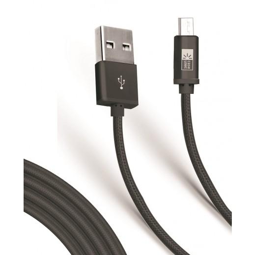 كيس لوجيك – كابل مايكرو USB مجدول بطول 1.8 متر – اسود