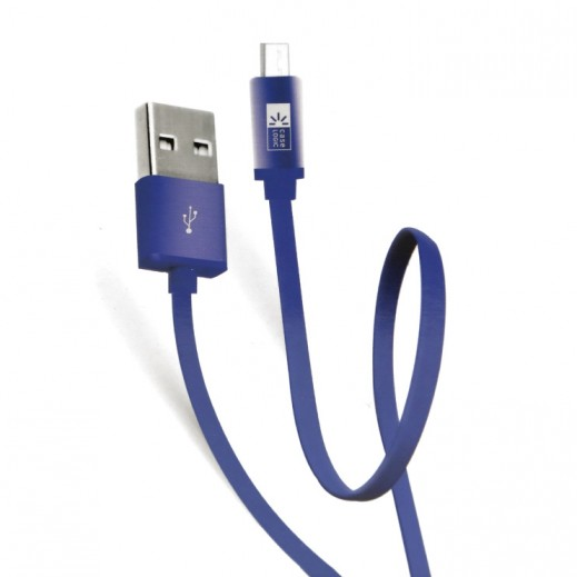 كيس لوجيك – كابل مايكرو USB مسطح بطول 1 متر – ازرق