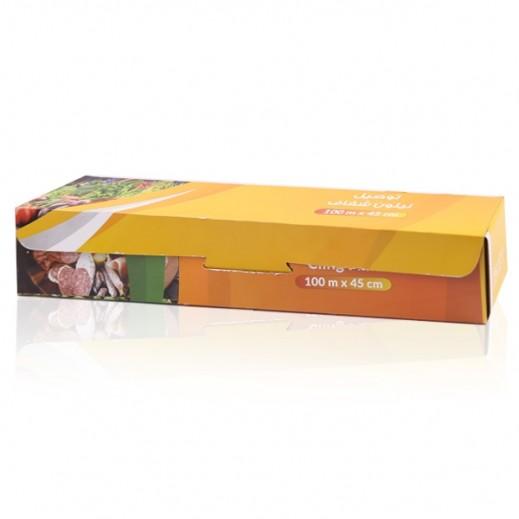 نيلون شفاف لتغليف الأطعمة  من توصيل 100 × 45 سم