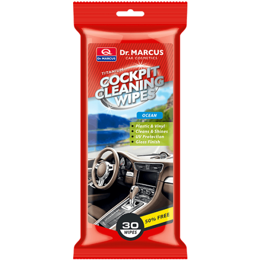 Dr. Marcus Titanium Cockpit Cleaning Wipes - Ocean