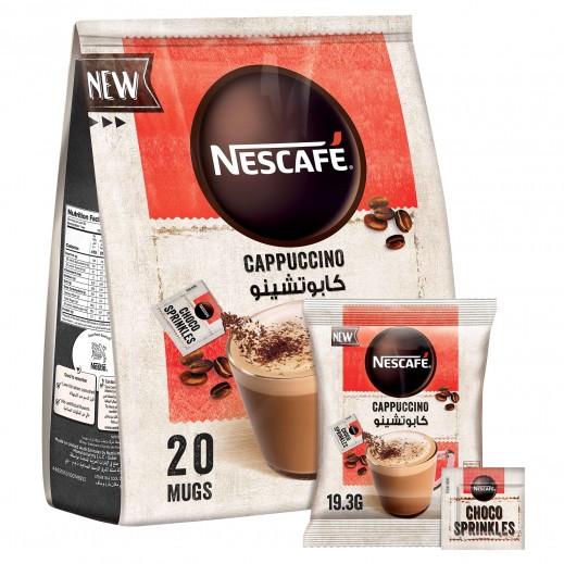 نسكافيه كابتشينو فومي قهوة ميكس مع شوكولاتة سبرينكلز 20 × 19.3 جم