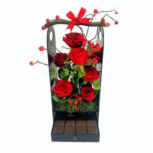الجوري الروزي - يتم التوصيل بواسطة Gate Of Flowers