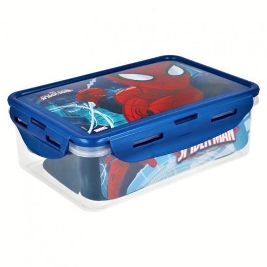 صندوق طعام مستطيل بتصميم سبايدرمان 1.07 لتر