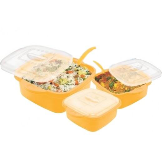 طقم أوعية لحفظ الطعام مع غطاء (ألوان متعددة) - 8 حبة