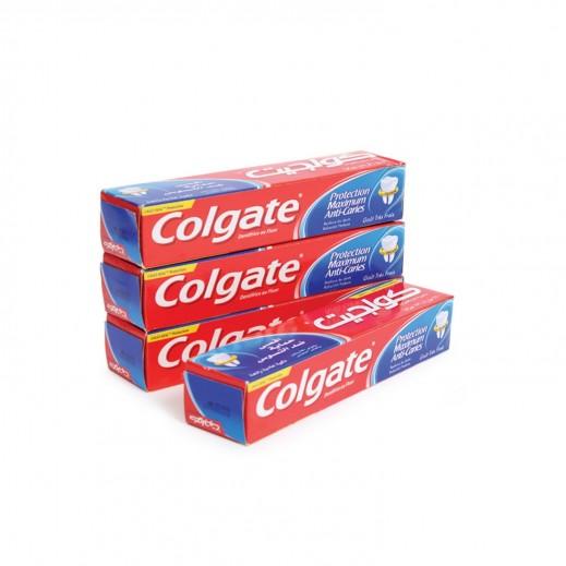 كولجيت – معجون أسنان بحماية الفلورايد 4 × 100 مل