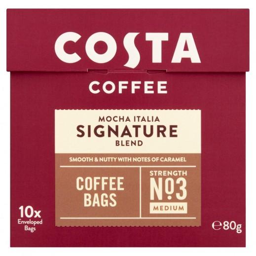 كوستا كوفي - مزيج قهوة موكا ايطالية سيجنتشر80 جم (10 أكياس)