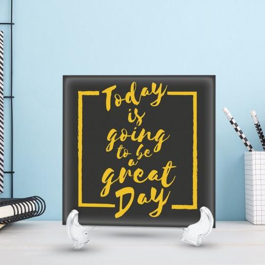 جملة على سيراميك تصميم Great Day - CR004 - يتم التوصيل بواسطة Berwaz.com
