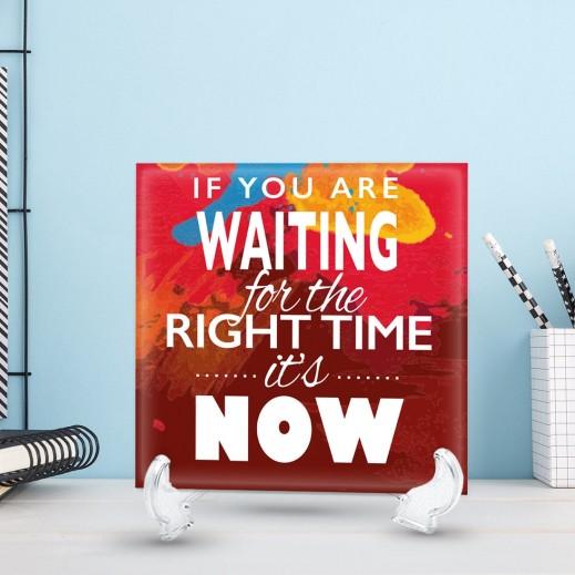جملة على سيراميك تصميم Right Time - CR005 - يتم التوصيل بواسطة Berwaz.com