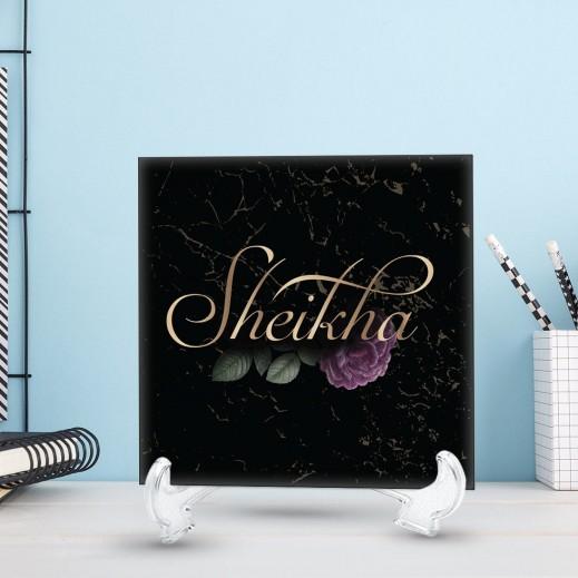 قطعة سيراميك تصميم أنيق أسود - يتم التوصيل بواسطة Berwaz.com