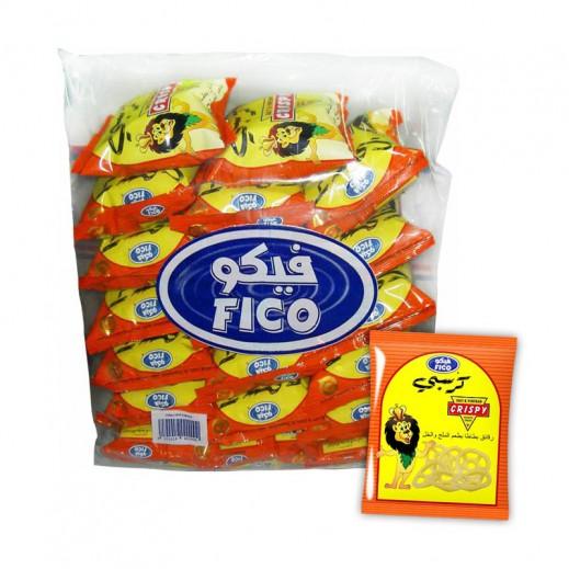"""فيكو – رقائق البطاطا """" كرسبي """" بطعم الملح والخل 15 جم × 20 حبة"""