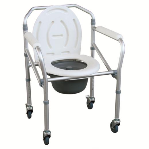 فيرتوس – كرسي حمّام استيل بعجل قابل للطي موديل Ca615L - يتم التوصيل بواسطة Al Essa Company