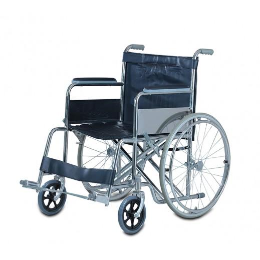 العيسى - كرسي متحرك عريض من الستيل سعة 110 كجم - يتم التوصيل بواسطة التوصيل بعد يومين عمل  بواسطة العيسى