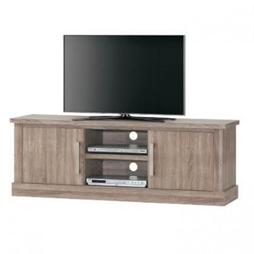 طاولة تلفزيون وسط بني ماليزي 155×46×55 سم - يتم التوصيل بواسطة Qortuba Furniture
