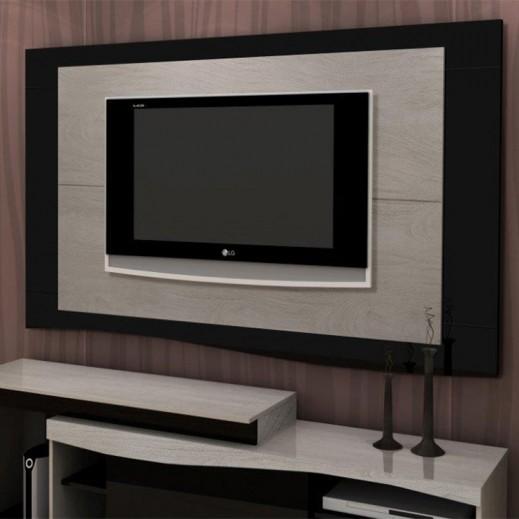 حامل تلفزيون بلازما برازيلي أسود 160×5×100 سم  - يتم التوصيل بواسطة Qortuba Furniture