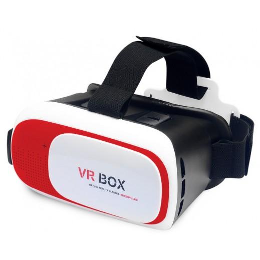 تجربة رائعة، شاشة افتراضية 2-3 متر، استمتع بالأفلام والالعاب بتقنية 3D - أحمر