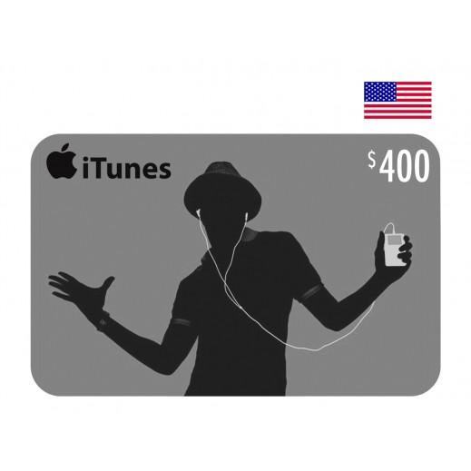 بطاقة أي تونز بقيمة 400 دولار حساب امريكى - توصيل عن طريق الإيميل