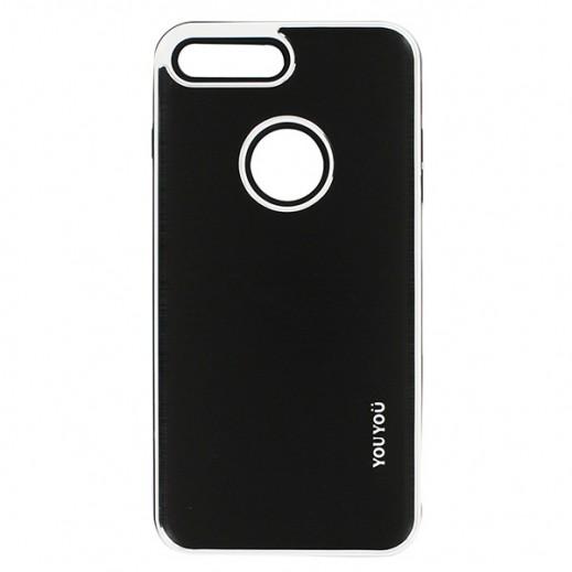 يويو – غطاء حماية خلفي لأي فون 7 Plus – أسود