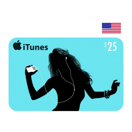 بطاقة أي تونز بقيمة 25 دولار للحسابات الأمريكية فقط –  إستلم فورا على بريدك الإلكتروني