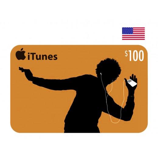 بطاقة أي تونز بقيمة 100 دولار للحسابات الأمريكية فقط –  إستلم فورا على بريدك الإلكتروني