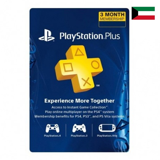 Sony Playstation Plus 90 Days Kuwait - Delivered by Email
