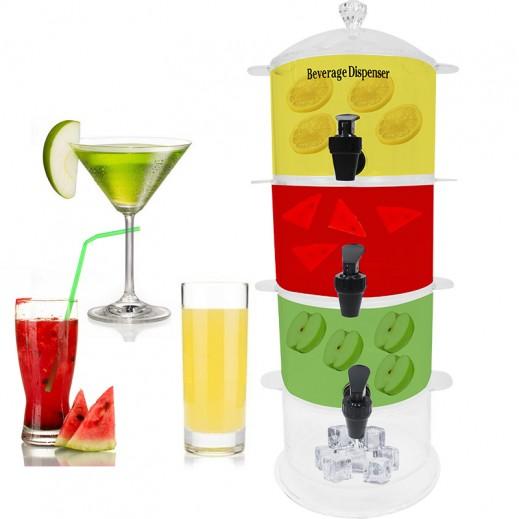 أكريليك – موزع العصير من 4 طوابق 7.5 لتر