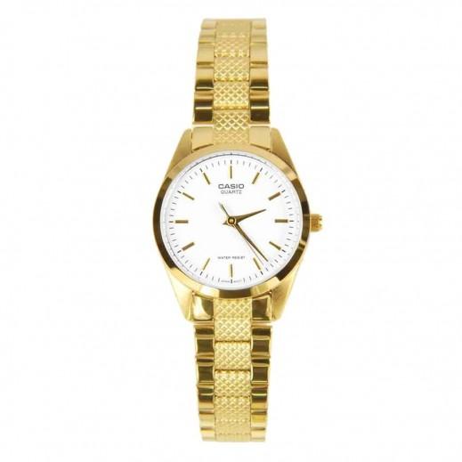 كاسيو - ساعة يد للسيدات استانلس استيل بعقارب لون ذهبي - يتم التوصيل بواسطة Veerup General Trading