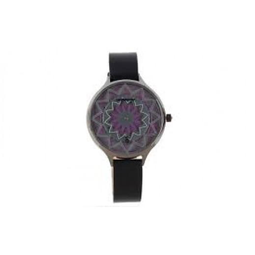 تشيلي بينز ساعة يد كاجول للسيدات - أسود / فضى - يتم التوصيل بواسطة F3 Sunglasses