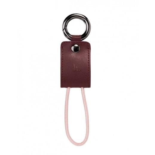 هوكو كيبل حلقة مفاتيح LIGHTNING محمول بني