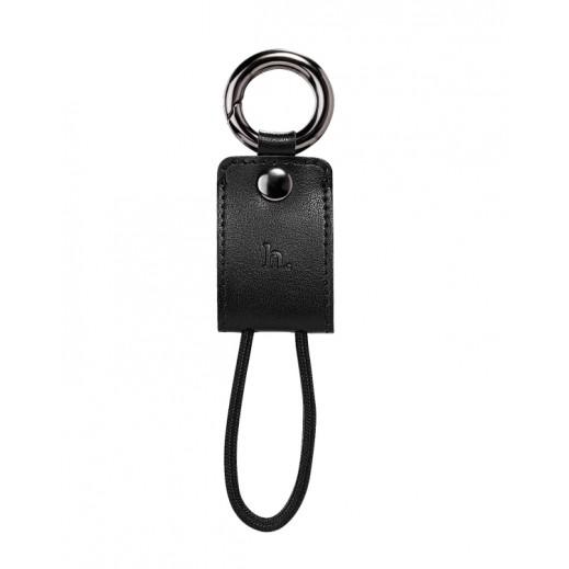 هوكو كيبل حلقة مفاتيح LIGHTNING محمول اسود