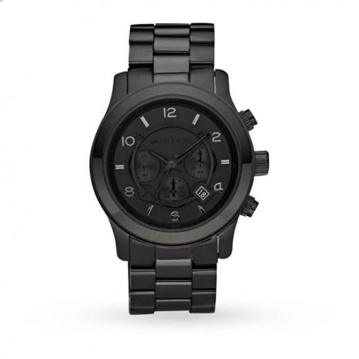 مايكل كورس - رن واي ساعة باللون الأسود مع أداة قياس الوقت الكرونوغراف للرجال - يتم التوصيل بواسطة My Fair Lady