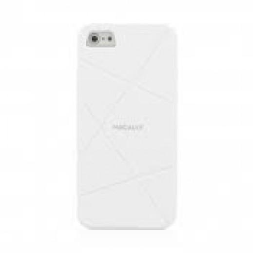 ماكالي – غطاء مرن لآي فون 5 / 5S – أبيض