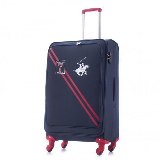 بولو - حقيبة سفر سيفين بقفل TSA حجم كبير - أزرق