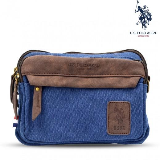 يو اس بولو اسن - حقيبة دنيم ناعمة 10 إنش - أزرق