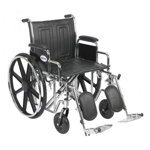 درايف – كرسي متحرك ستيل عريض للأوزان الثقيلة سعة 300 كجم - يتم التوصيل بواسطة Al Essa Company