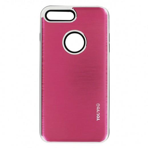 يويو – غطاء حماية خلفي لأي فون 7 Plus – وردي