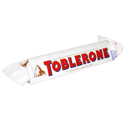 توبليرون - شوكولاتة بيضاء بالعسل والنوجا 35 جم