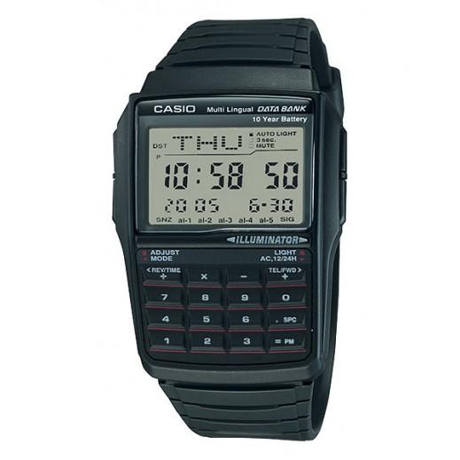 كاسيو - ساعة يد رقمية حسابية رجالي بسوار راتنج - رمادي  - يتم التوصيل بواسطة Veerup General Trading