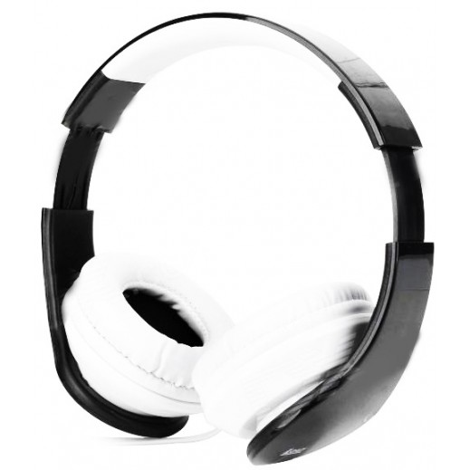 iLead - سماعات الرأس قابلة  للطى و التعديل – لون أسود× أبيض