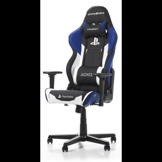 DXRACER - كرسي ألعاب الفيديو لجهاز بلاي ستيشن – اسود و ازرق - يتم التوصيل بواسطة شركة توصيل خلال يوم العمل التالي