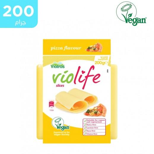فيولايف - شرائح جبنة البيتزا النباتية خالية من الجلوتين 200 جم