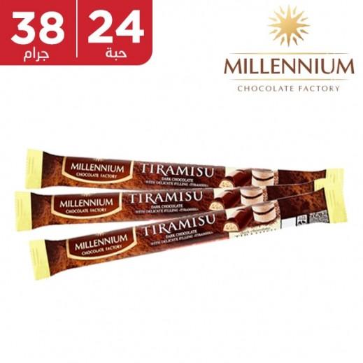 ميلينيوم - شوكولاته داكنه ميلينيوم بحشوة التراميسو 24 × 38 جم