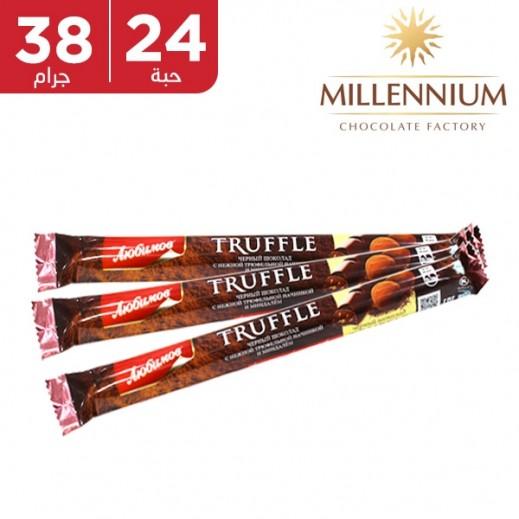 ميلينيوم - شوكولاته داكنه ميلينيوم بحشوة الترافيل واللوز 24 × 38 جم