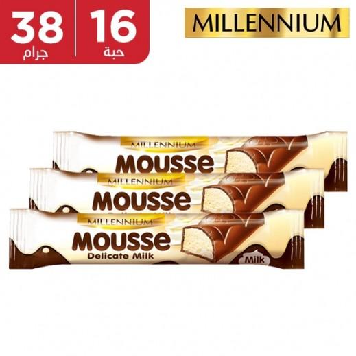 ميلينيوم - شوكولاته بالحليب موس الحليب 16 × 38 جم