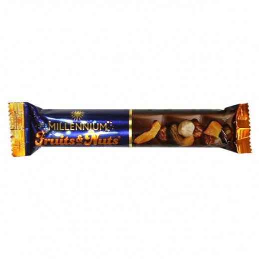 ميلينيوم - شوكولاته بالحليب محشوة باللوز الكامل والبندق والمشمش والزبيب 50 جم